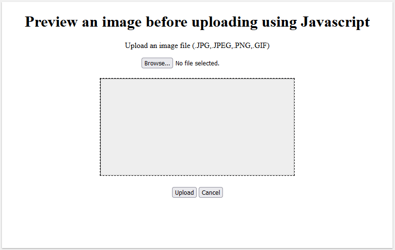 preview an image before uploading using javascript